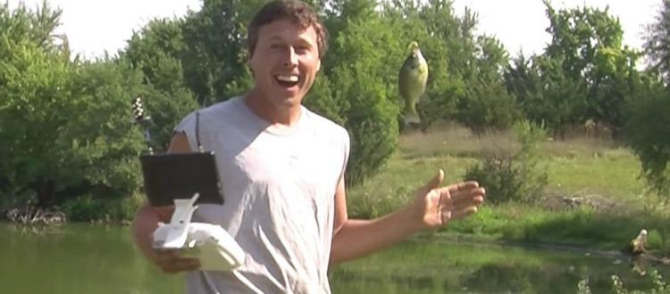 Ο high-tech ψαράς με το drone