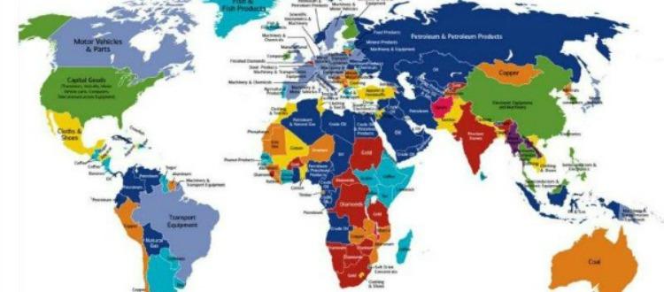 Αυτός είναι ο χάρτης των εξαγωγών κάθε χώρας