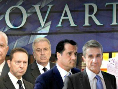 Άνοιγμα λογαριασμών για τους 10 πολιτικούς της Novartis