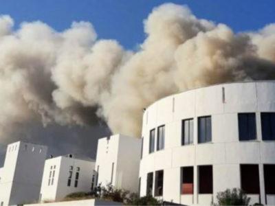 Καταγράφουν την ρύπανση από την πυρκαγιά στο Πανεπιστήμιο Κρήτης
