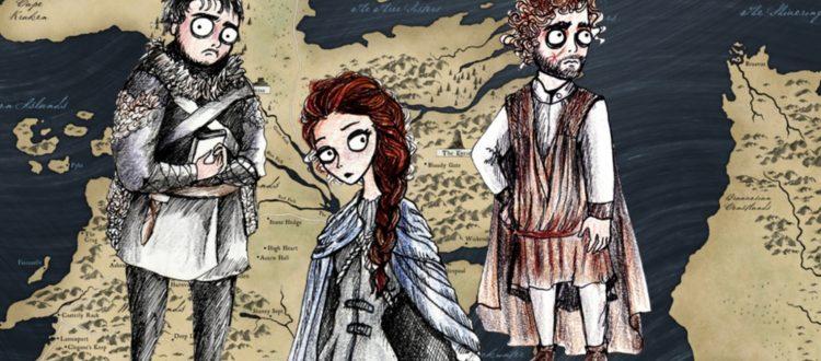 Ο Tim Burton σχεδίασε τους ήρωες του Game of Thrones