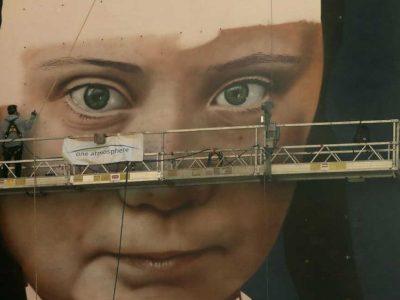 Έκαναν την Γκρέτα Τούνμπεργκ τοιχογραφία
