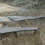 Καταρρέουν τμήματα δρόμου στο Ηράκλειο