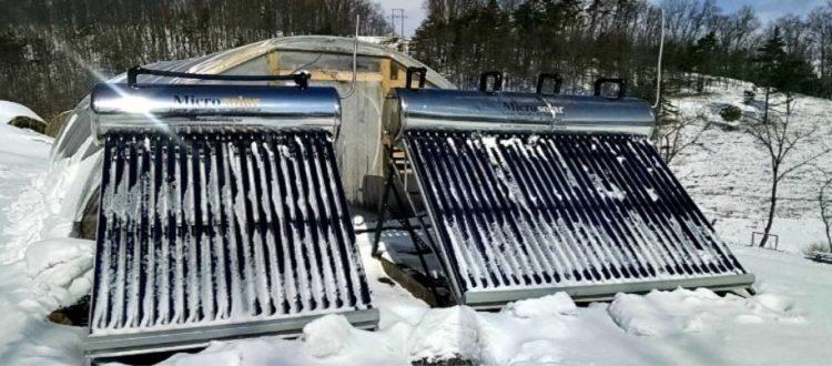 Προστατέψτε τον ηλιακό θερμοσίφωνα από τον πάγο