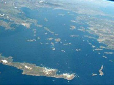 Η Κρήτη από το διάστημα ανάποδα